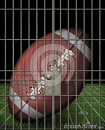 Free Jailed Football Royalty Free Stock Photography - 28513847