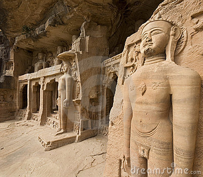 Jain sculptures - Gwalior - India