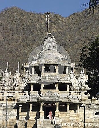 Jain Temple - Ranakpur - Rajasthan - India. Editorial Photo