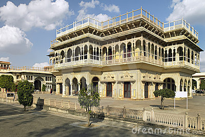 Jaipur - Mubarak Mahal - India Editorial Photography