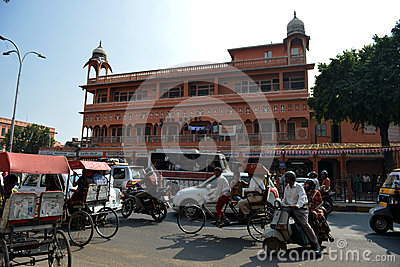 Jaipur Street Scene Editorial Photo