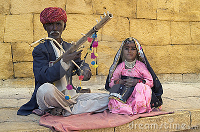 Jaisalmer Musicians Editorial Photography
