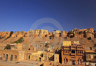 Jaisalmer in Rajasthan, India.