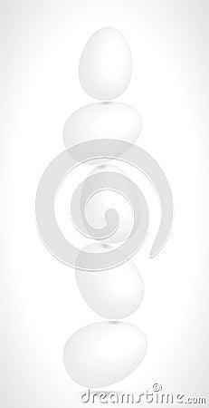Jajka balansuje w równowadze