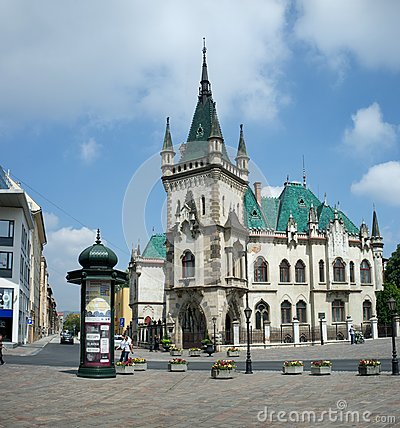 Free Jakab Palace  With Green Turrets In Kosice Stock Photography - 42531902