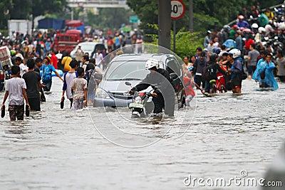 Jakarta Flood Editorial Stock Image