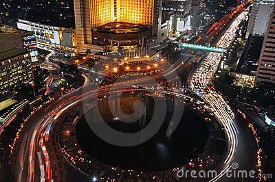 Jakarta Night Stock Photography - Image: 20164662