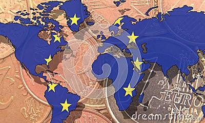 Jako globalny waluta euro
