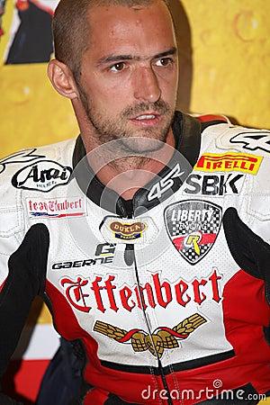 Jakub Smrz - Ducati 1098R - Team Effenbert Liberty Editorial Image