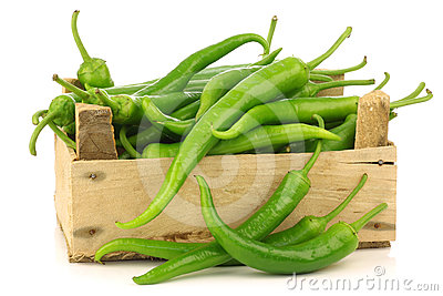 Jalapeno Peppers In A Wooden Crate Royalty Free Stock Photos - Image: 24422988