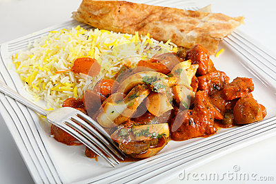Jalfrezi fork and plate