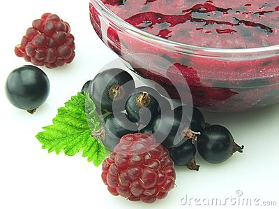 Jam with berries