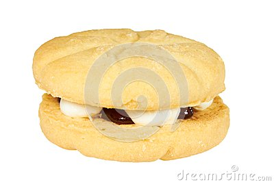 Jam and cream cookie