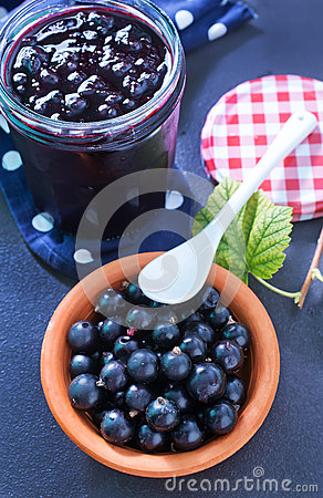 Free Jam From Black Currant Royalty Free Stock Image - 52129066