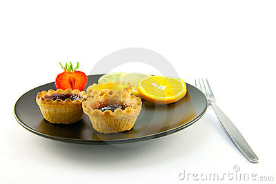 Jam tarts and Fruit