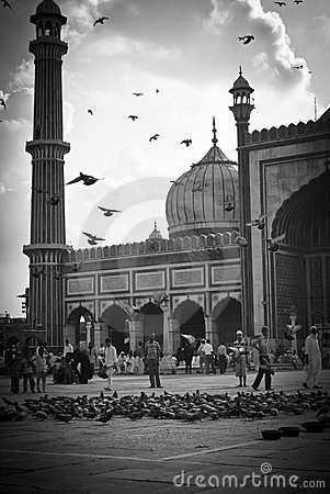 Jama Masjid, New Delhi Editorial Stock Photo