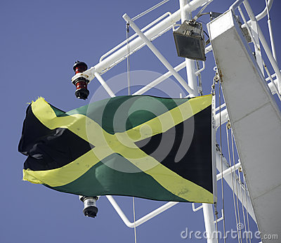 Jamaica Flag Flying