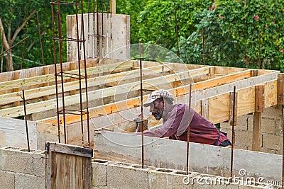 Jamaican Carpenter Editorial Photo