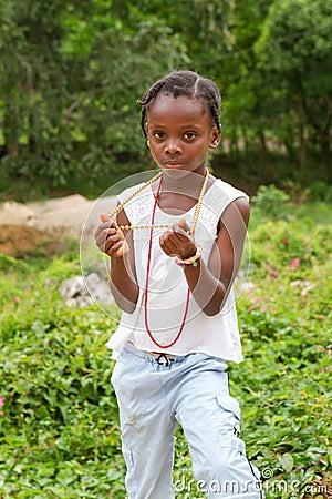 Jamaican Girl Editorial Image