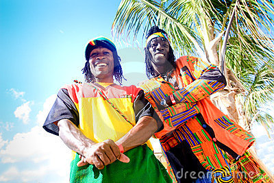 Jamaican street vendours Editorial Stock Image