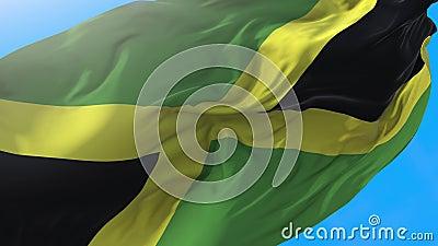 Jamaika-Fahne-Video-Wellen in Wind 4K