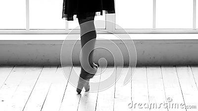 Jambes de ballerine portant la chaussure de danse banque de vidéos