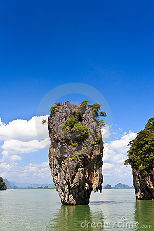 James Bond island Ko Tapu in Thailand