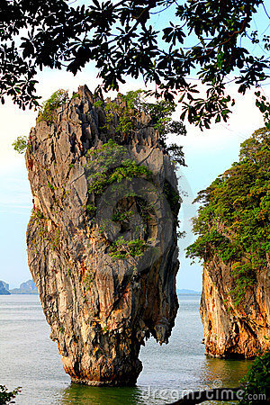 James Bond Island in Phuket, Thailand