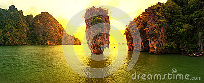 James Bond island sunset
