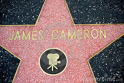 James Cameron in Hollywood s Walk of Fame Editorial Stock Image
