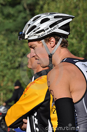 James Cunnama, Alpe d Huez Triathlon Editorial Stock Photo
