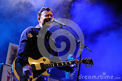 James Dean Bradfield, singer of Manic Street Preachers Editorial Photography