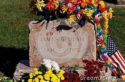 James Dean Grave Site Editorial Photography