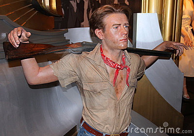 James Dean at Madame Tussaud s Editorial Stock Image