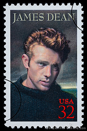 James Dean Postage Stamp Editorial Photography