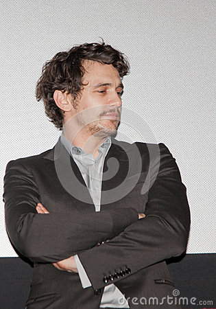 James Franco Listening Editorial Stock Photo