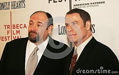 James Gandolfini and John Travolta Editorial Photo