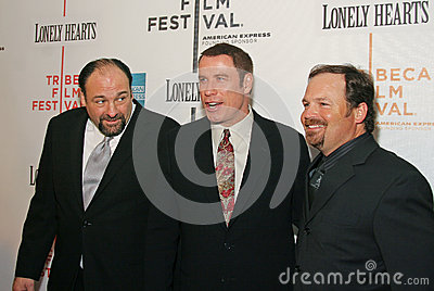 James Gandolfini, John Travolta e Todd Robinson Immagine Editoriale