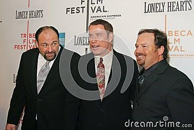 James Gandolfini, John Travolta, και Todd Robinson Εκδοτική εικόνα