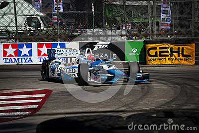James Hinchcliffe at the Toyota Grand Prix of Long Beach Editorial Photo