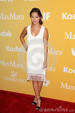 Jamie Chung at the Women In Film Crystal + Lucy Awards 2012, Beverly Hilton Hotel, Beverly Hills, CA 06-12-12 Editorial Stock Image