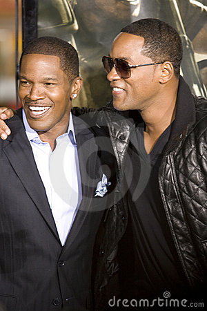 Jamie Foxx and Will Smith 2 Editorial Photo