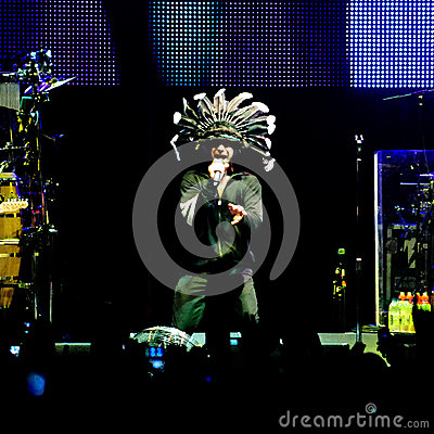 Jamiroquai live Editorial Stock Photo
