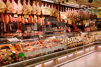 Jamon store Editorial Photo