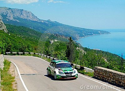 Jan Kopecky on the IRC PRIME Yalta Rally 2011 Editorial Photo