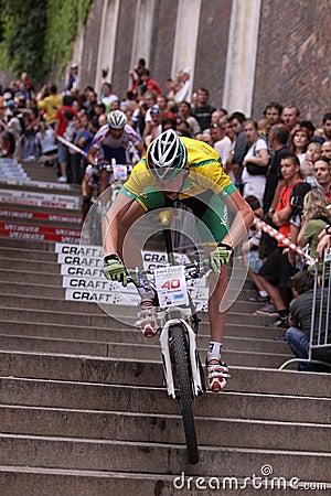 Jan Nesvatba - Prague bike race 2011 Editorial Stock Photo