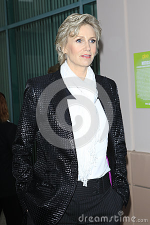 Jane Lynch arrives at the Glee TV Academy Screening and Panel Editorial Photography