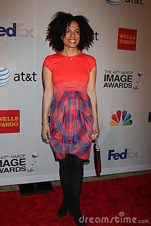 Janine Sherman Barrois arrives at the NAACP Image Awards Nominees Reception Editorial Photography