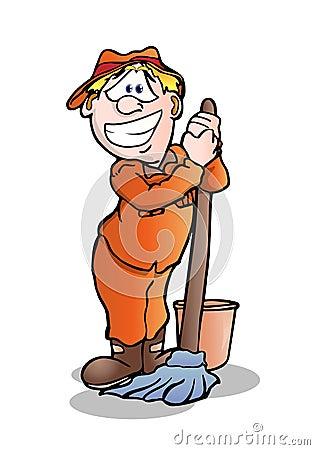 Janitor Royalty Free Stock Image Image 18178336