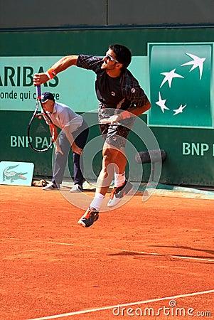 Janko Tipsarevic at Roland Garros 2012 Editorial Stock Image